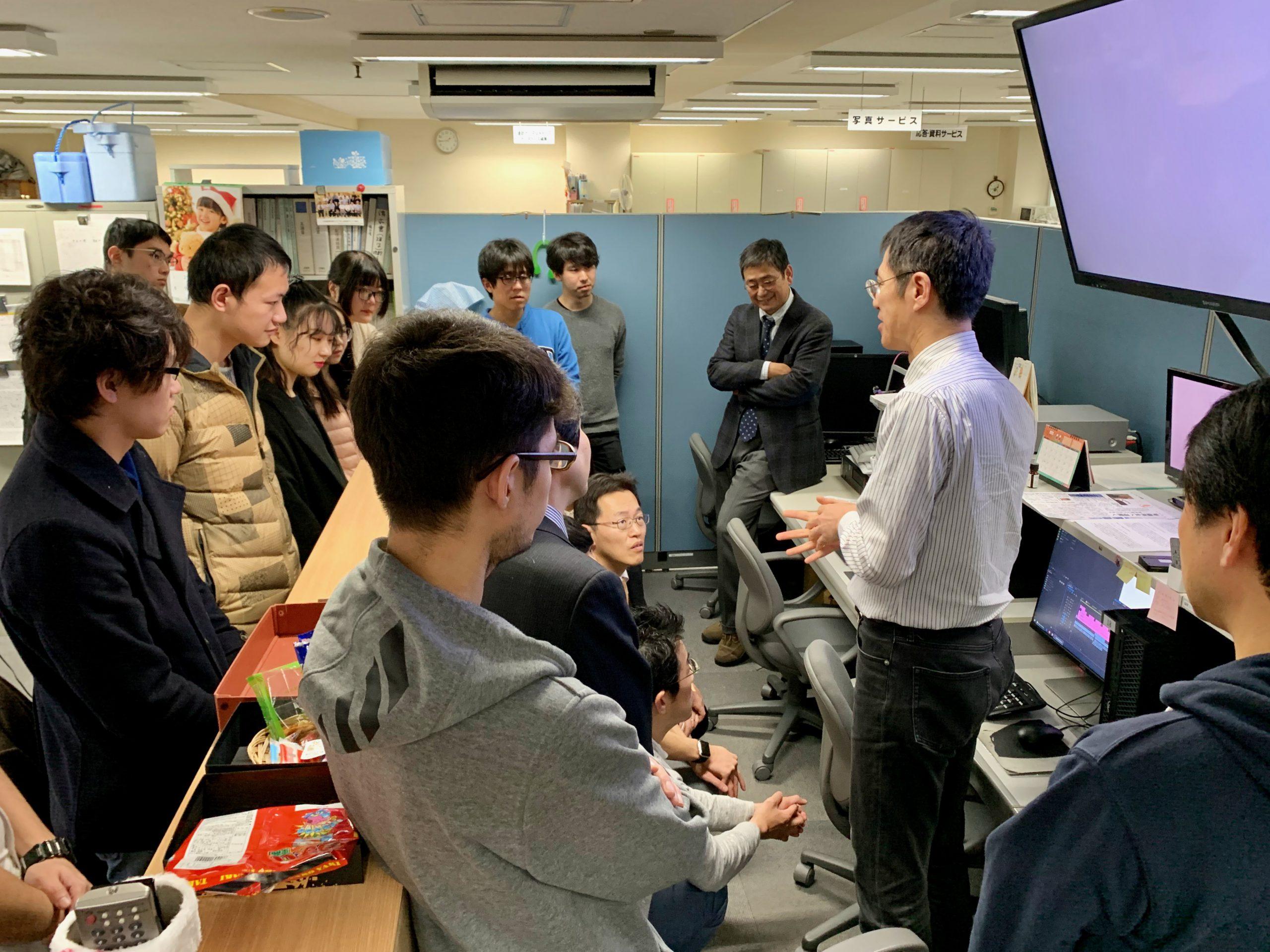 訪問先 :北海道新聞社<br /> 関連科目:法政策ペーパー技能演習<br />      Law & Policy Composition